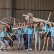 Finalistky Miss Polabí 2018 si užily nejkrásnější létání